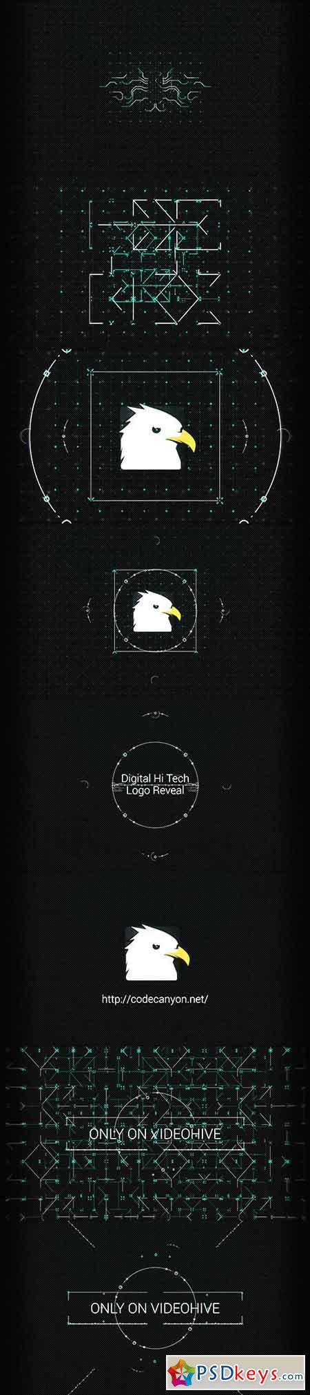 Digital Hi Tech Logo Reveal 11395309 - After Effects Projects