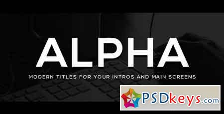 Alpha Titles 20695760 - After Effects Projects