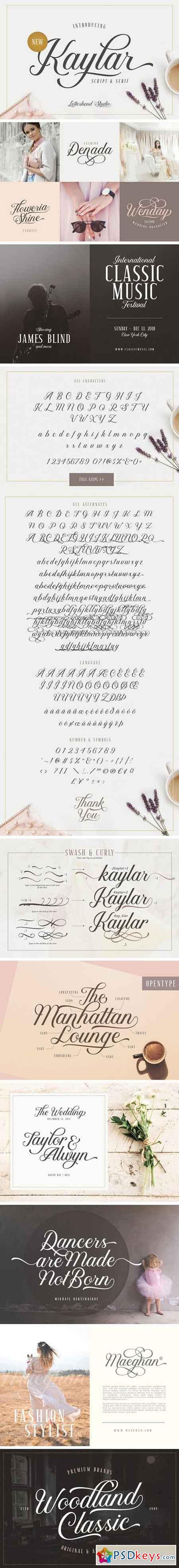Kaylar - Elegant Script & Serif 2137364