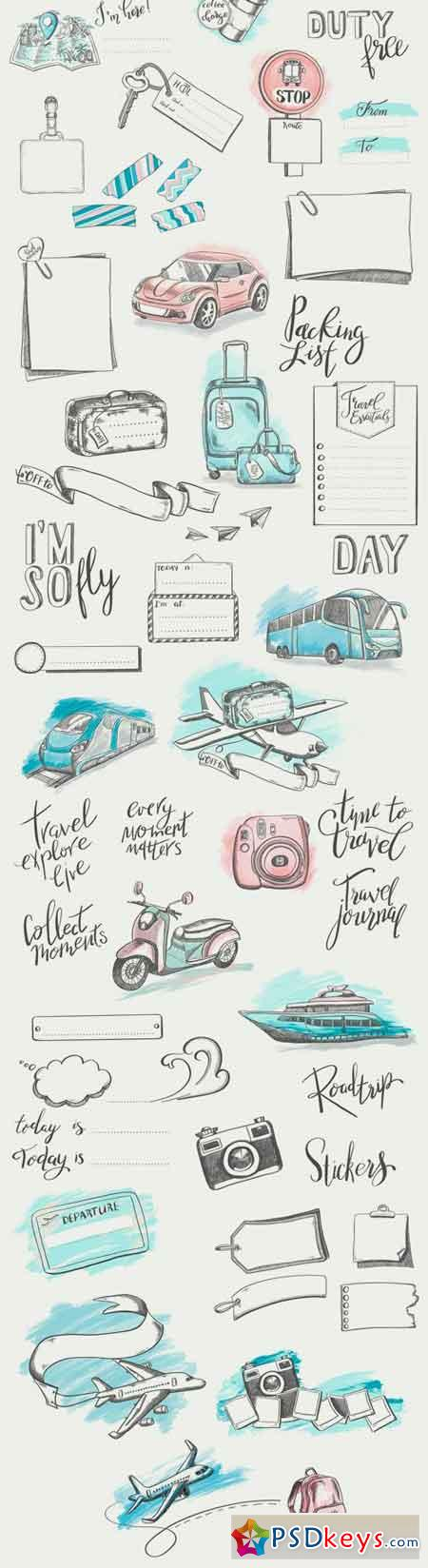 Hand Drawn Travel Illustrations 2062414
