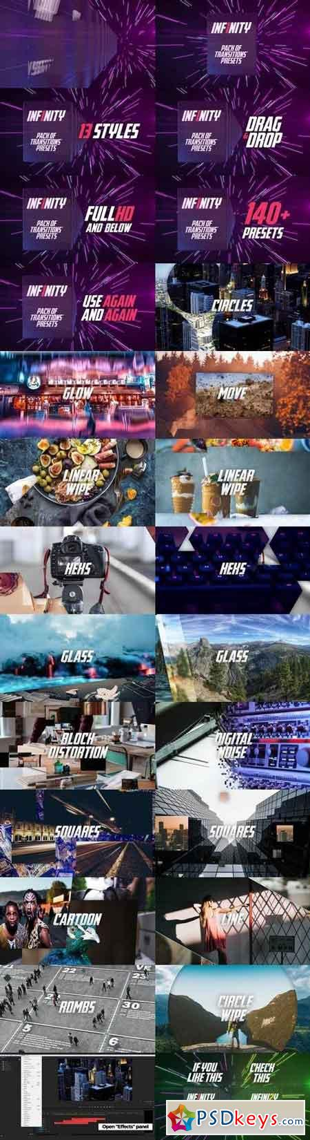 Inf1nity Pack Of Transitions Presets Premiere Pro Templates 57632
