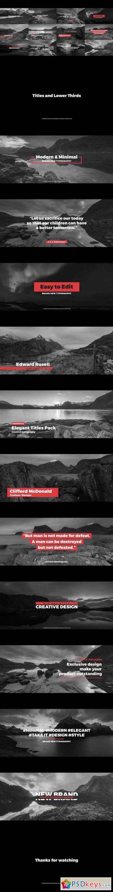 Titles And Lower Thirds Premiere Pro Templates 57871