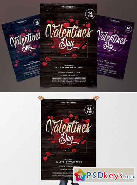 Valentines Day - PSD Flyer Template 2120058
