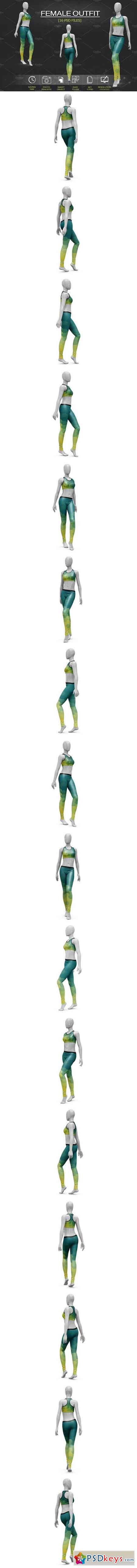 Female Sport Outfit Vol.1 Mockup 2108151