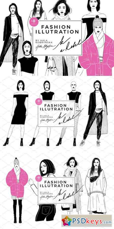 Set with fashion Illustration 2120730