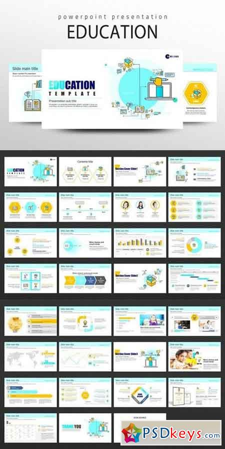 powerpoint templates torrents - education icon ppt template 1798030 free download