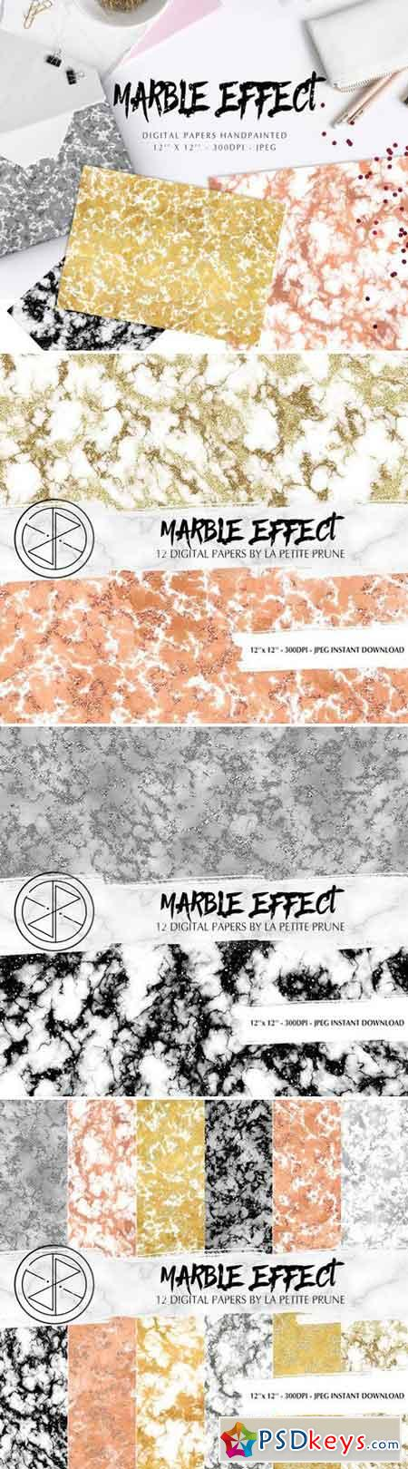 Digital papers marble effect 1868948
