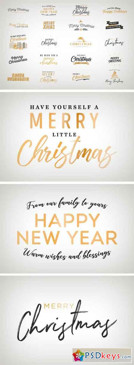 Holiday Christmas Vector Text Set 2174146
