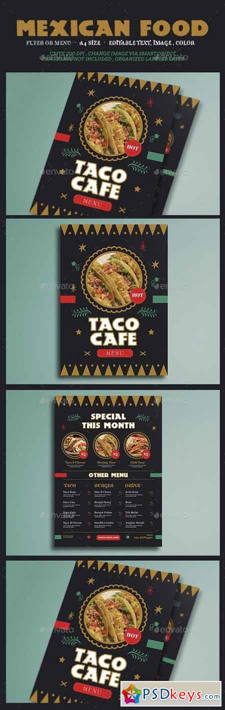 Mexican Food Flyer Menu 15189419