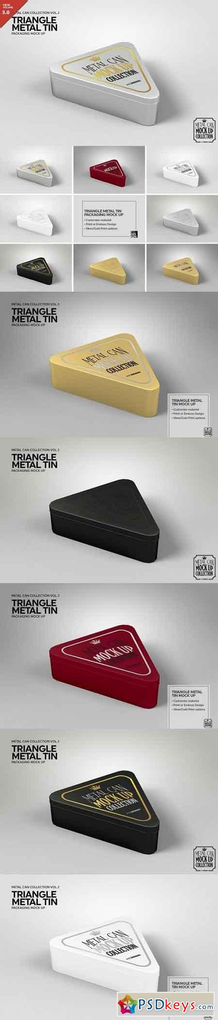 Triangle Metal Tin Mock Up 1928293