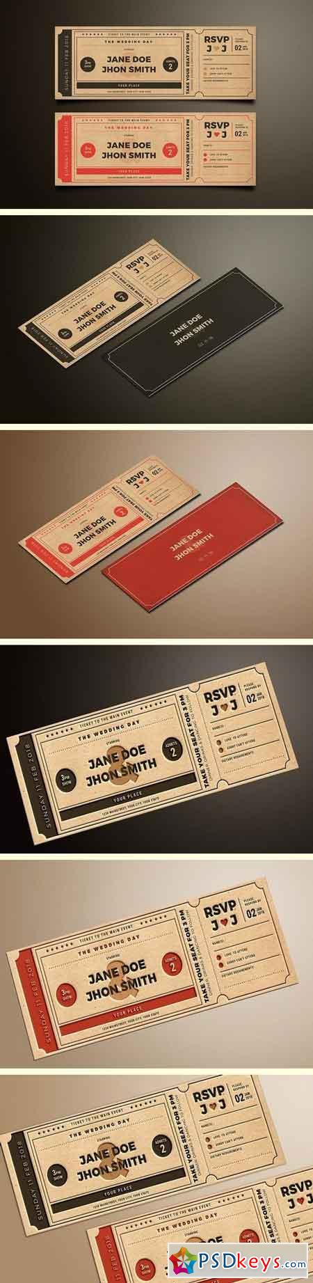 Wedding Invitation Movie Ticket 1486551