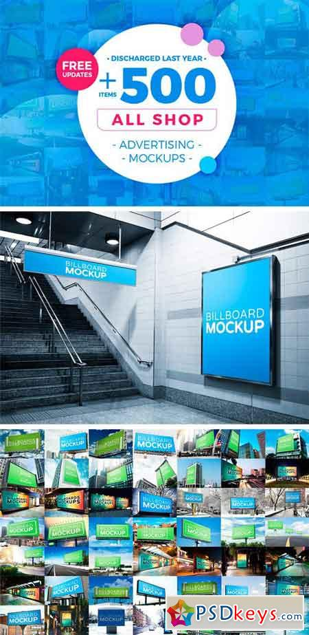 +500 Mockup Bundle [All Shop] 2164666