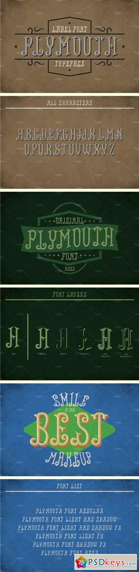 Plymouth Vintage Label Typeface 1811950