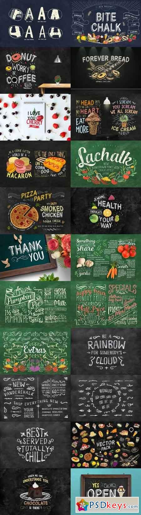 3 IN 1 Chalk Fonts Bundle + Extras 1797560