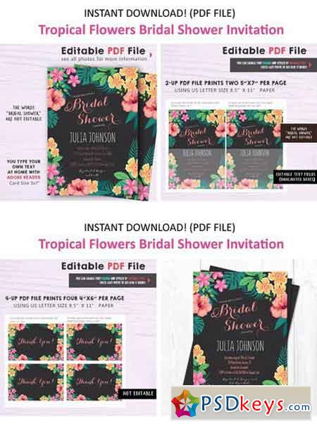 Tropical Bridal Shower Invitation 2137124