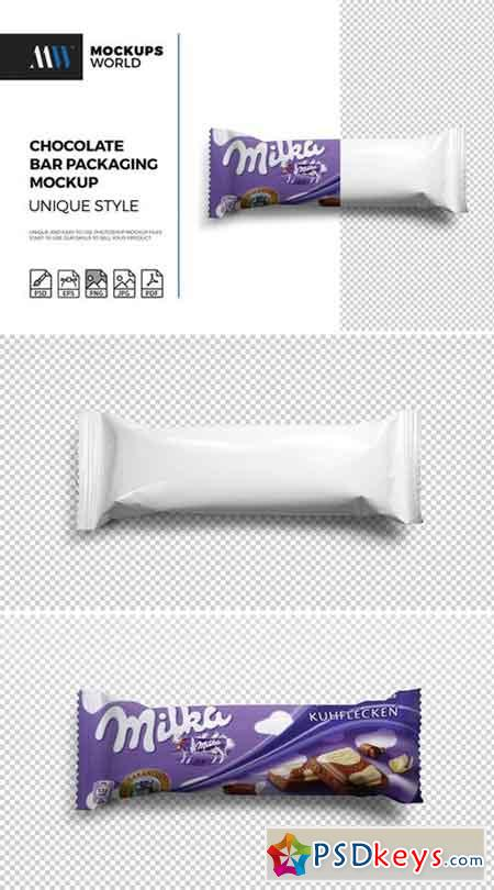 Chocolate Bar Packaging Mockup 2137657