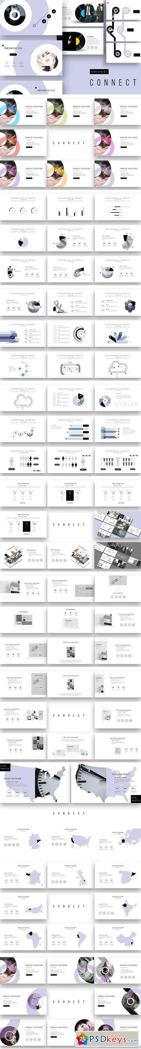 connect powerpoint template + update 2136668 » free download, Modern powerpoint