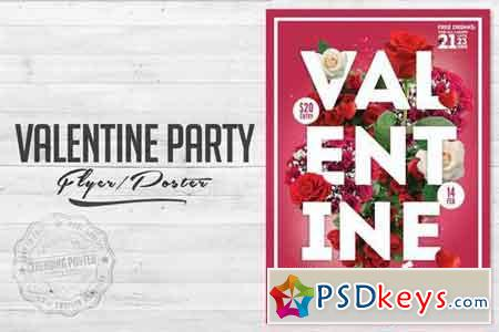 Valentine Party Flyer Poster