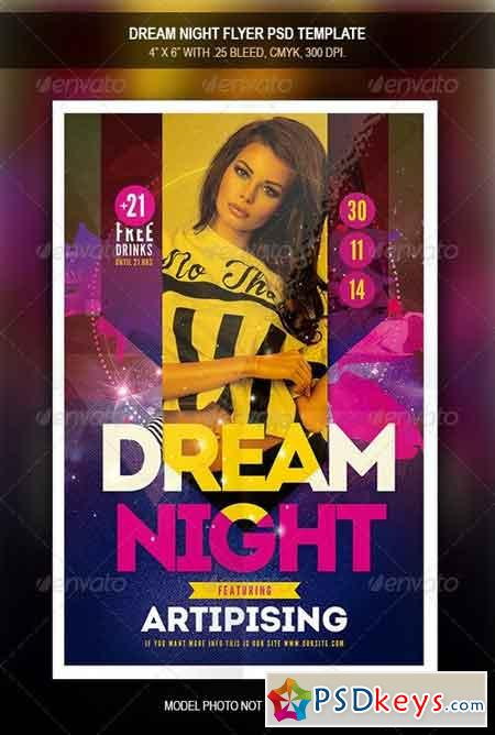 Dream Night Flyer Template 7900251