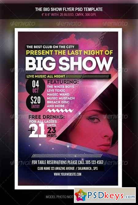 The Big Show Party Flyer 7901435