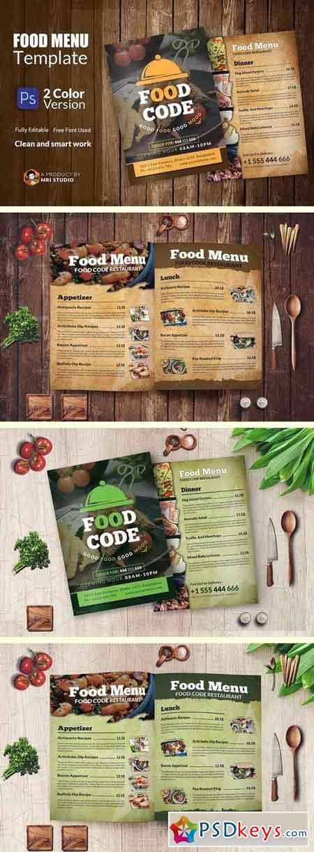 Food Menu Template 1929789