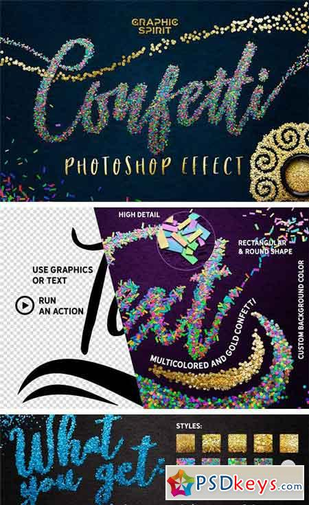 CONFETTI Effect for Photoshop 2175408