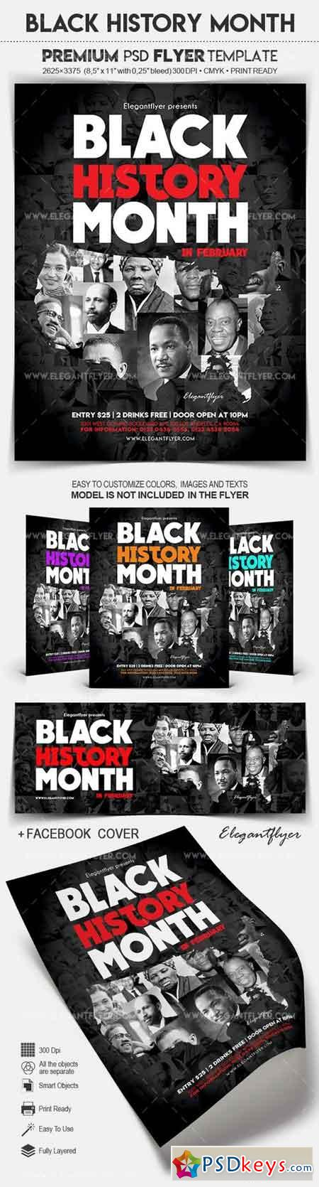 Black History Month – Flyer PSD Template + Facebook Cover