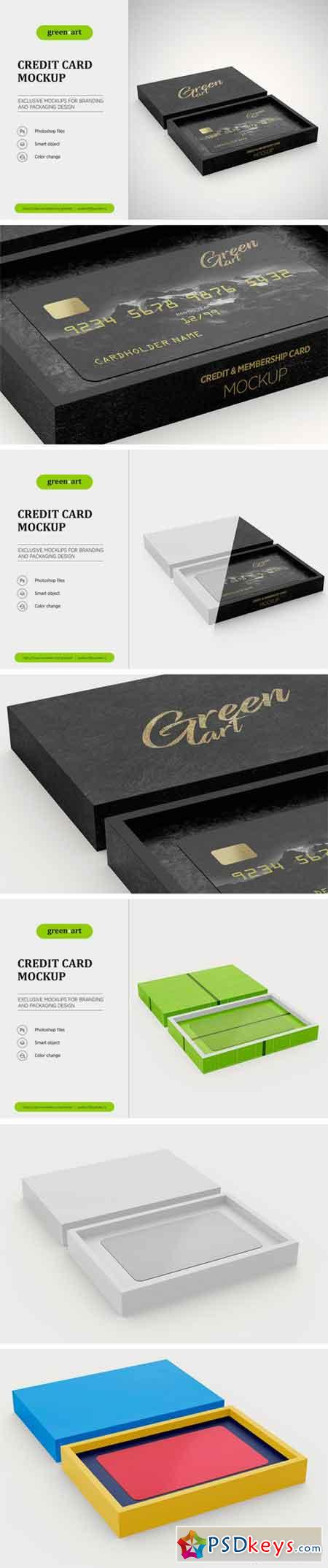 Credit Card Mockup 2199516 » Free Download Photoshop Vector