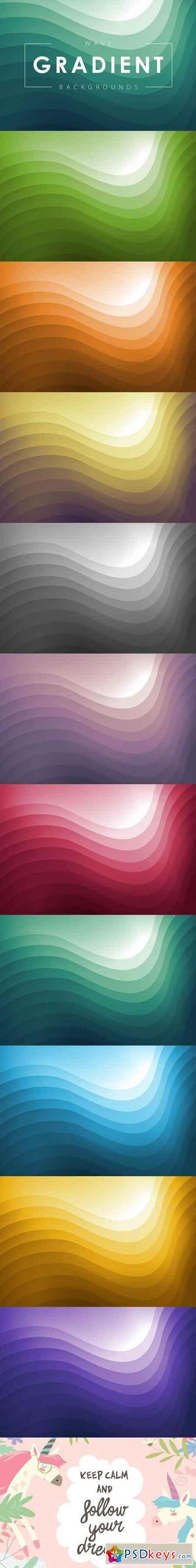Wave Gradient Backgrounds