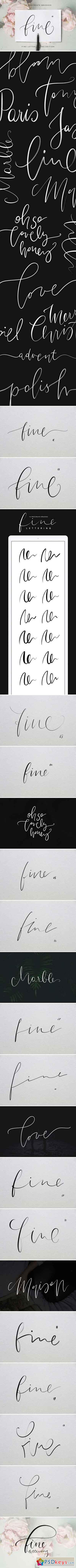 Procreate Fine Lettering Brushes 2143002