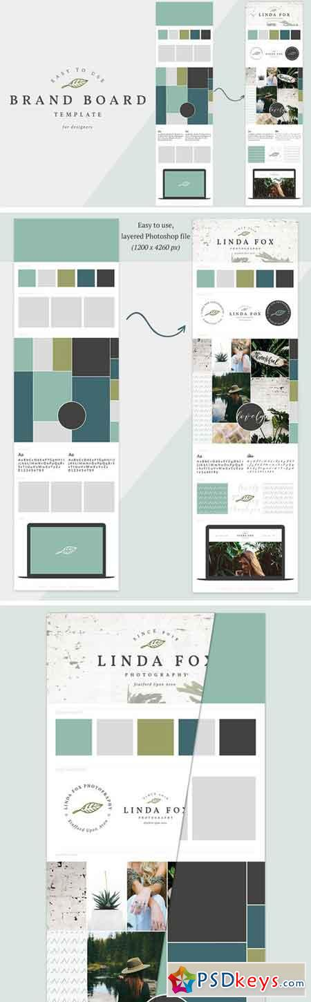 Brand Board Template Mood Board 2221894