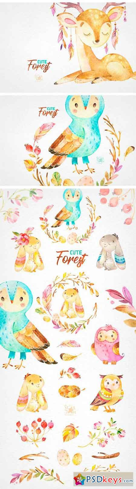 Cute Forest Collection of Animals 2221456
