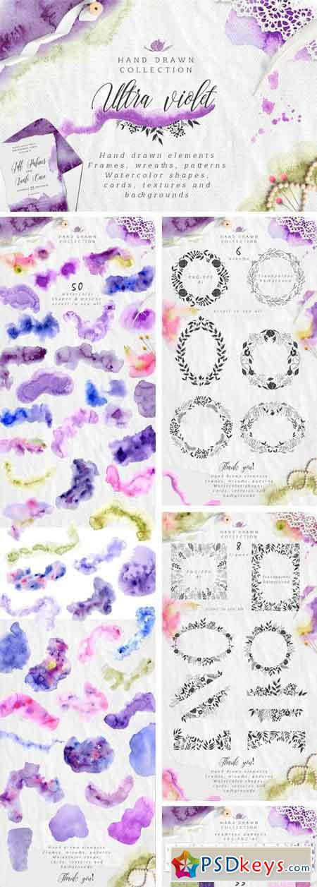 Ultra Violet Watercolor Collection 2199876