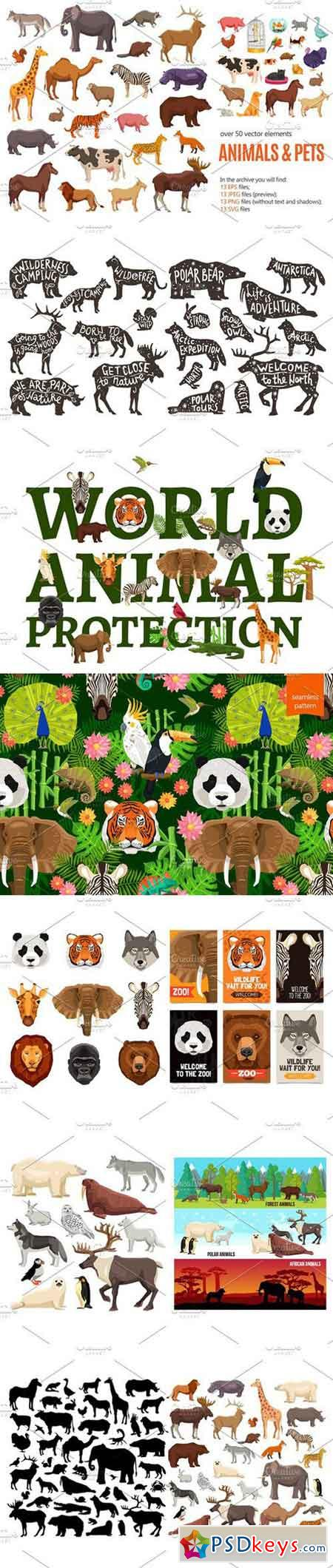 Sale! Wild Animals and Pets Set 2154658