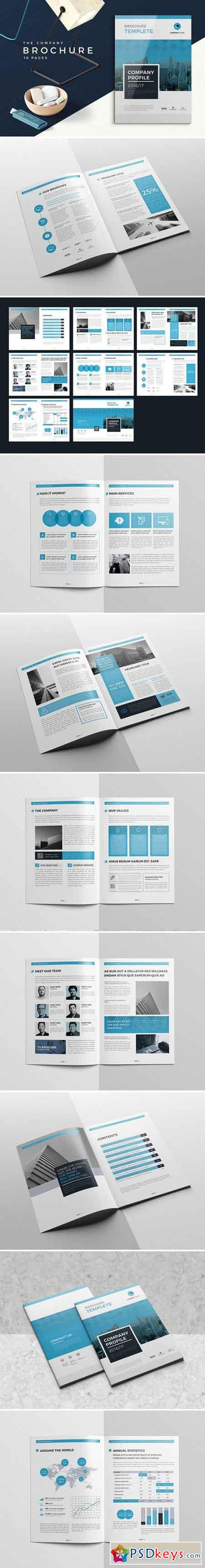 Blue Company Profile 16 Pages 2136978