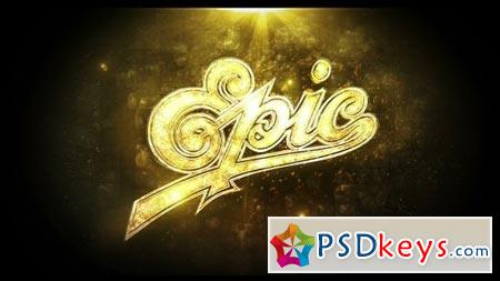 Gold Epic Logo 20363954 - After Effects Projects