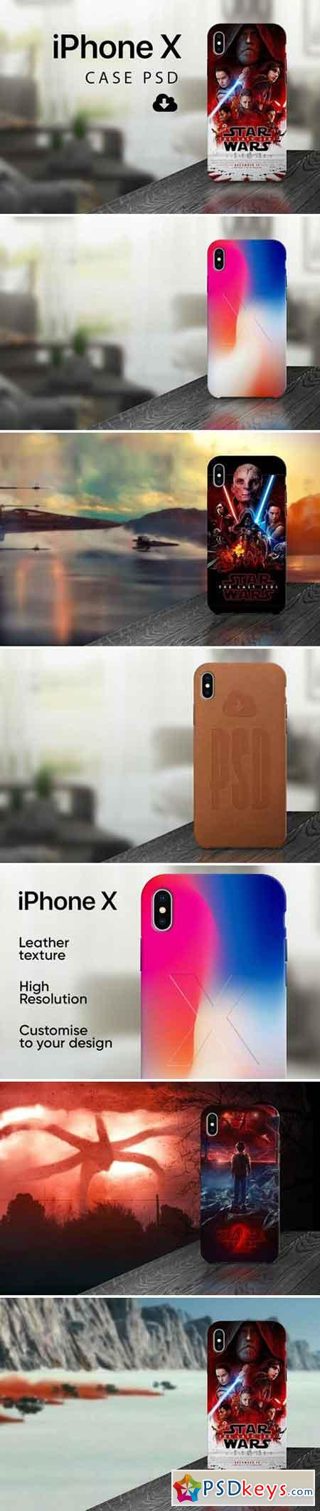 iPhone X - Case PSD mockup 2153270