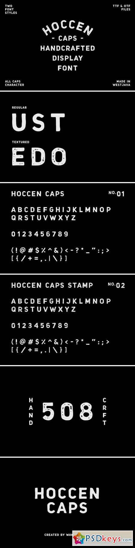 HOCCEN CAPS Display Font 2154016