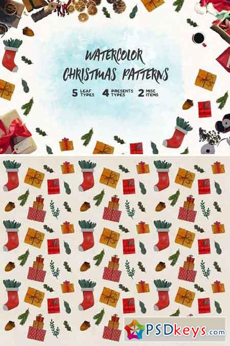 Watercolor Christmas Pattern 2166849