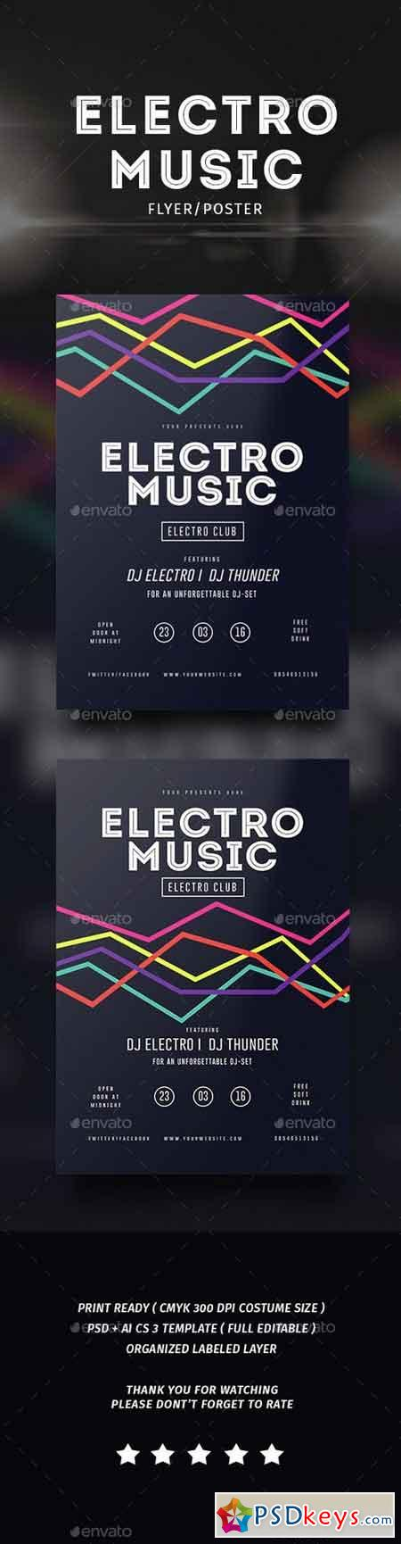 Electro Musik Flyer & Poster 14526283