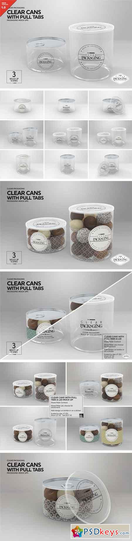 Clear Cans with Pull Tabs Mock Up 2218686