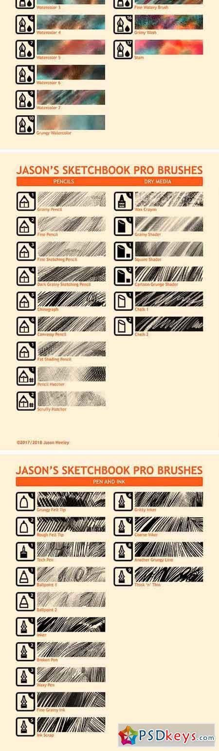 Jason's Sketchbook Pro Art Brushes 2222931 » Free Download Photoshop