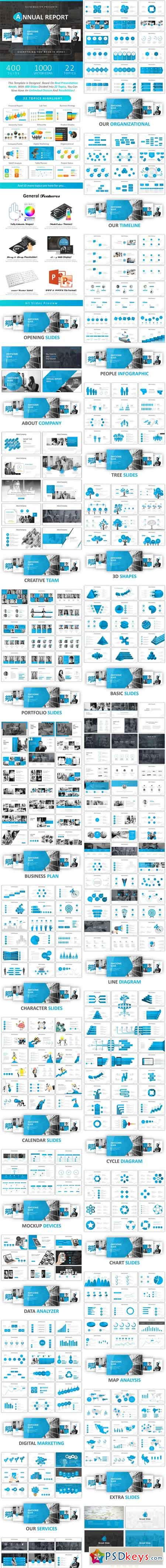 Annual Report Powerpoint 21307501 » Free Download Photoshop