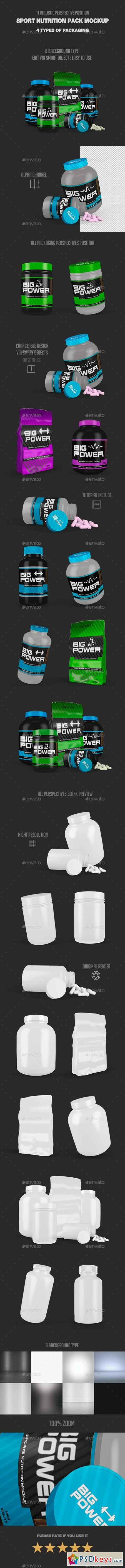 Sport Nutrition Pack Mock Up 21323112
