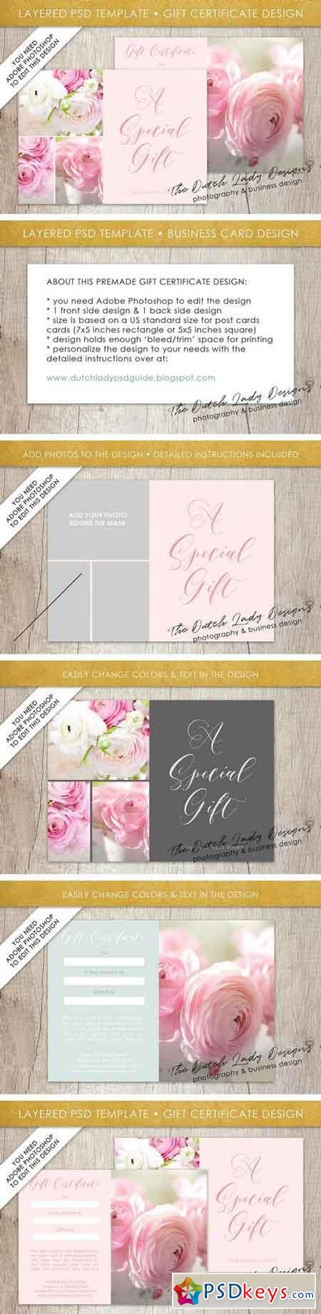 PSD Photo Gift Card Template #2 1929759