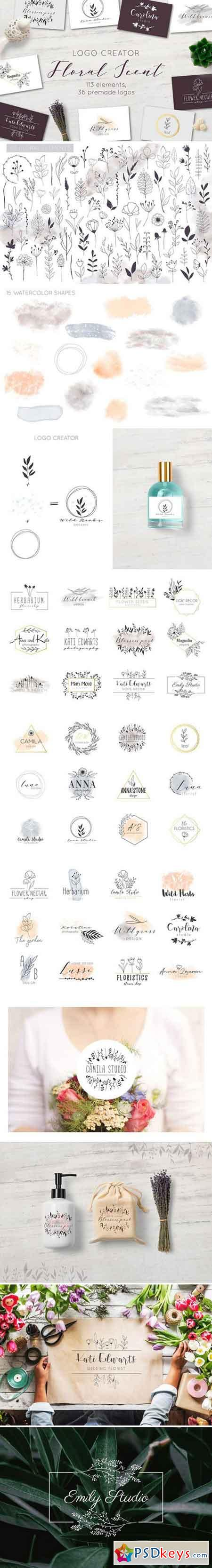 Floral Scent LOGO CREATOR 2147698