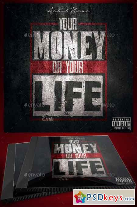 Money or Your Life Mixtape Cover Flyer Template 21033913