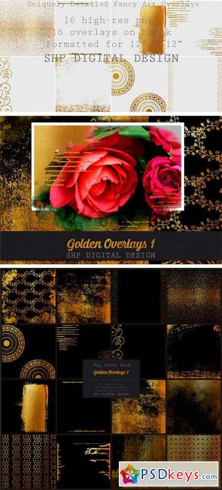 Fancy Golden Overlays Art Pack 1 2182537