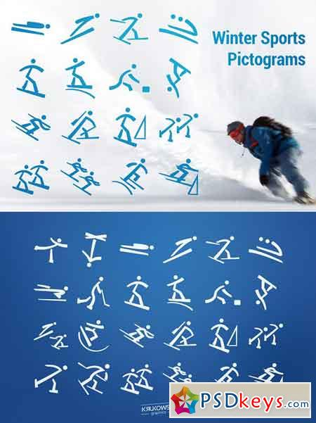 Winter Olympic Pictograms Font 2245647