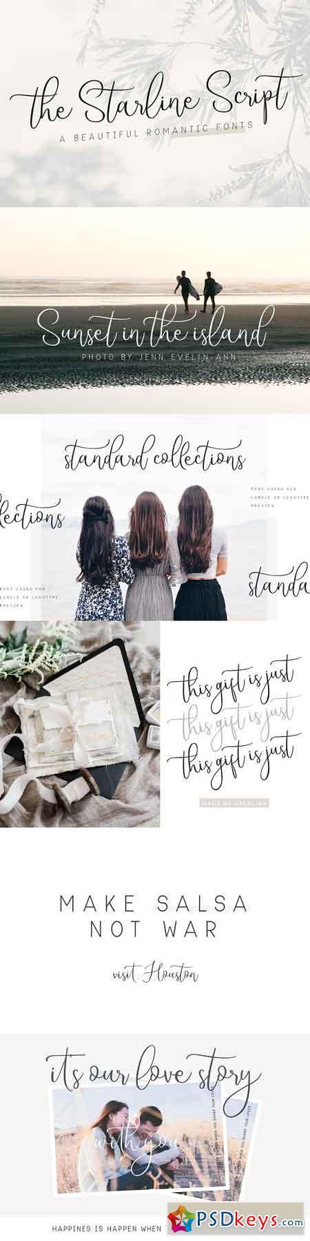 Starline Beautiful Script Fonts 2241517